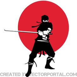 NINJA WARRIOR VECTOR IMAGE.eps