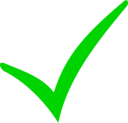 Green Checkmark and Red Minus
