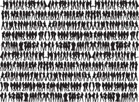Free Big Collection of People Silhouettes