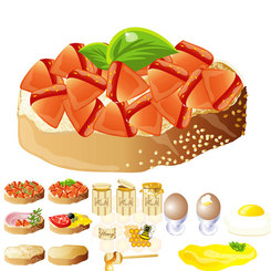 Rich And Delicious Food) (Vector Graphic