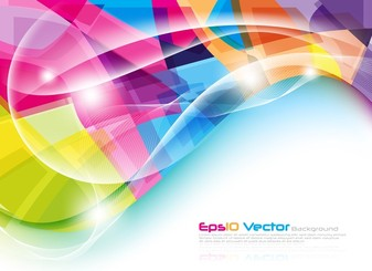 Colorful Dynamic Lines Of The