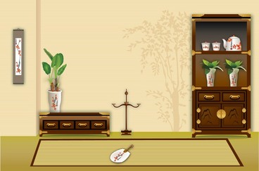 Vector Display Of Chinese Classical House