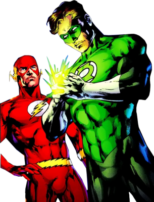 Green Lantern and The Flash PSD