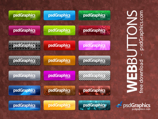 Photoshop PSD web buttons