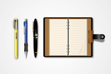 Blank Notebook & Pen Vectors (Free)