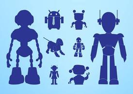 Robots Silhouettes Graphics