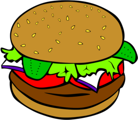 Fast Food, Lunch-Dinner, Hamburger no cheese