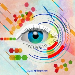Woman eye vector art