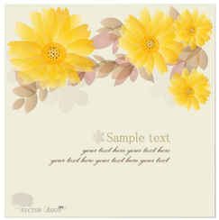 Yellow Chrysanthemum Vector Backgrounds