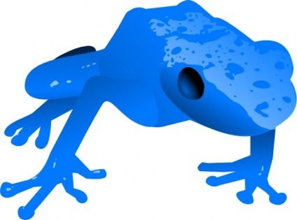 Endangered Blue Poison Dart Frog