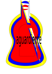 botella aguardiente