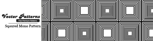 Simple But Perfect Squared Mono Seamless Free Pattern