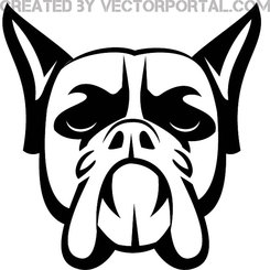 BOXER DOG VECTOR ILLUSTRATION.eps