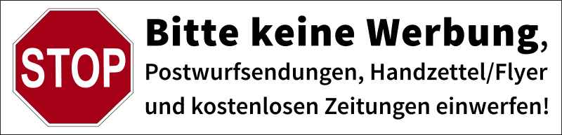 "Postbox label ""No advertisements"" (german)"