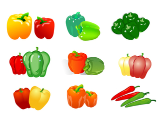 Vector material of two vegetables - peppers