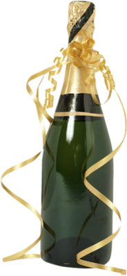 Bottle of Champagne PSD