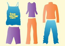 Vector Clothes Silhouettes