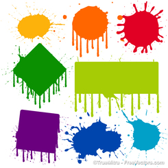 Dripping Paint Vectors