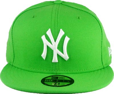 Lime Green and White NY Hat PSD