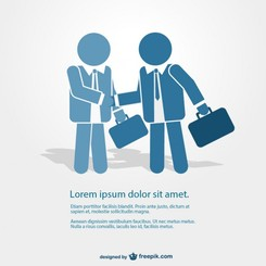 Business people meeting graphics