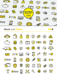 56 Bitcoin Icon set