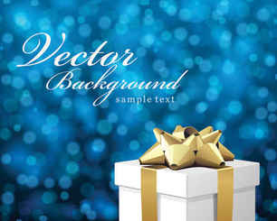 Free Vector Bokeh Christmas Background