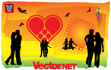 """u"""""""""""": uLove is in the Air"""" Vector Art"""
