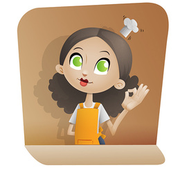Free Chef Girl Vector Character
