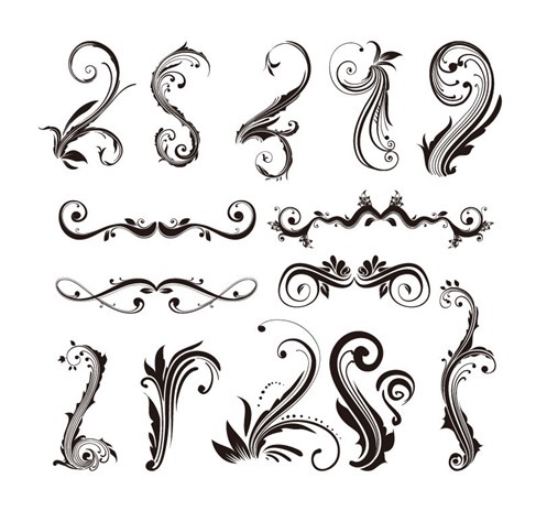 Ornament Design Elements Vector Set