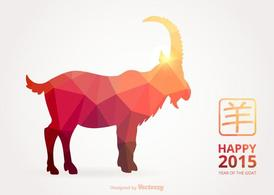 Free Vector Happy Chinese 2015 Polygonal Goat