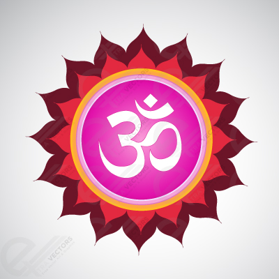 Om Symbol with meditative mandala,Free