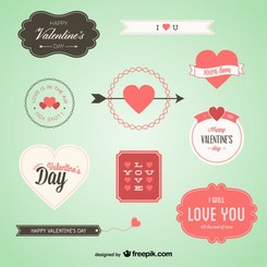 Lovely Valentine's Badges Set