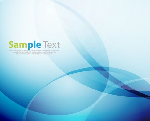 Abstract Blue Vector Background with Blending Blur Lines