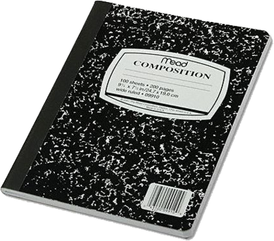 Mead Composition Book PSD