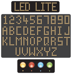 Free Vector Led Alphabet and Numbers