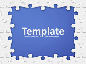 Puzzle frame template