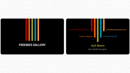 double sided business card template free vectors. Black Bedroom Furniture Sets. Home Design Ideas
