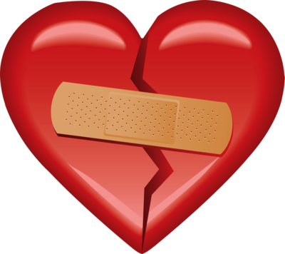 Heart with Bandaid PSD