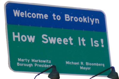 Welcome to Brooklyn sign PSD