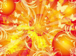 Sun Vector Background Sunny Life Poster