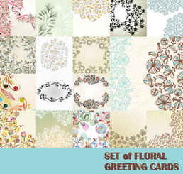 Vector Flowers Pattern background