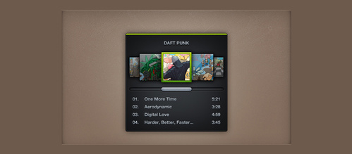 Dark Mini Spotify Music Widget