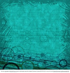 Abstract Teal Circle Background