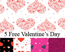 5 Free Valentine's Day Themed Vector Patterns for Illustrator