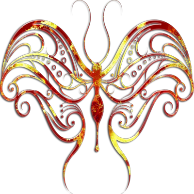 Red Butterfly PSD
