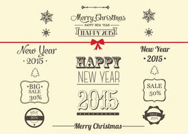 Free Vector Christmas Decoration Collection