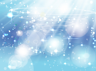 Blue Sparkling Background with Sunlight