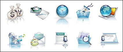 Beautiful vista style icons vector material-1