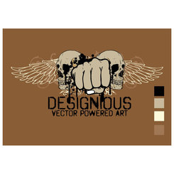 FIST AND WINGS FREE VECTOR.eps