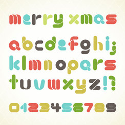 Colorful Vector Font